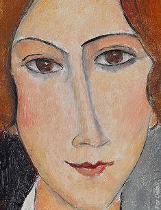 Amedeo Modigliani - Modern Art - Portrait de femme - Détail