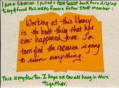 Librarian PostSecret