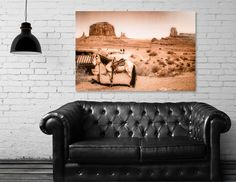 Discover «A Horse in the Wild West scene -vintage look.», Numbered Edition Acrylic Glass Print by Daniela Constantinescu - From $75 - Curioos
