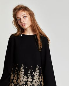 MINI DRESS WITH EMBELLISHED EMBROIDERY-DRESS TIME-WOMAN | ZARA United States