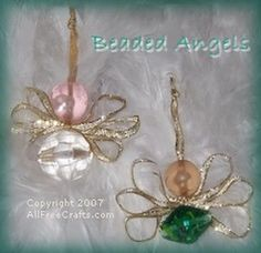 angel crafts | Bead Angels with Printable Guardian Angel Psalm Scroll