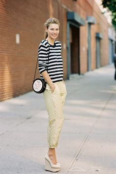 Vanessa Jackman: New York Fashion Week SS 2014 so much love Vanessa Jackman, Street Style, Street Chic, Outfits With Striped Shirts, Fashion Outfits, Womens Fashion, Fashion Trends, Fashion Styles, Vogue