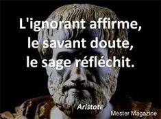 L'ignorant affirme, le savant doute, et le sage réfléchit. French Words, French Quotes, Pump It, Favorite Quotes, Best Quotes, Life Quotes, Quote Citation, Einstein, Positive Attitude