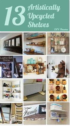New ways to use old shelves ~ 13 Artistically Upcycled Shelves