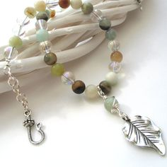Amazonite and Mystic Quartz Necklace Gemstone by adiencrafts, $29.00