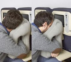Inflatable Travel Pillow - For Sleeping On Planes