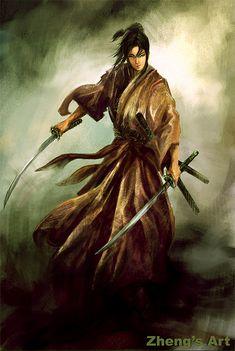 I find a lot of creative inspiration on Pinterest! samurai lady by kerko.deviantart.com on @deviantART