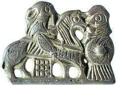 This brooch from Tissø shows a valkyrie who leads a fallen warrior on a horse toward Valhalla. The numerous pieces of jewellery from Tissø depicting female figures indicate that the worship of Freyja was widespre