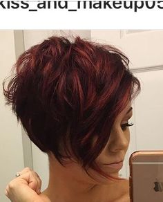 Love this cut & colour. Could possibly work for me b/c of wavy hair NOT READY TO GO THIS SHORT YET.