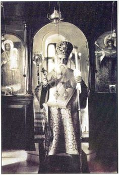 St Nektarios at his last Liturgy Byzantine Icons, Byzantine Art, Paint Icon, Orthodox Christianity, Heaven Sent, Religious Icons, Catholic Saints, Orthodox Icons, Christian Art