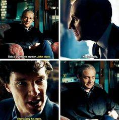 John, Mycroft and Sherlock