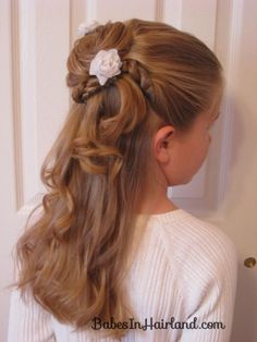 Twisted Flower Girl Hairstyle from BabesInHairland.com  #flowergirl #twists #weddingstyles