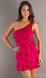 Pink pretty one shoulder dress