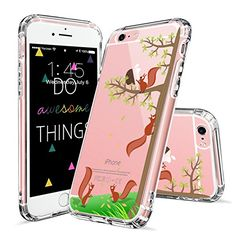 iPhone 7 Case, iPhone 8 Case Clear, MOSNOVO Cute Squirrel Pattern Clear Design Printed Transparent Plastic Hard Back Case with TPU Bumper Protective Case Cover for iPhone 7 / iPhone 8 Cool Iphone 7 Cases, Iphone 7 Covers, Iphone Cases For Girls, Iphone 6 Plus Case, Iphone Accessories, Accessories Store, Samsung Galaxy, 6s Plus, Tecnologia