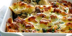 Cajun Delicacies Is A Lot More Than Just Yet Another Food Chicken And Spinach Bread Bake Strata - Recipetin Eats Low Carb Low Calorie, Excel Tips, Spinach Bread, Salade Caprese, Low Carb Recipes, Healthy Recipes, Recipetin Eats, Oven Dishes, Chicken Recipes
