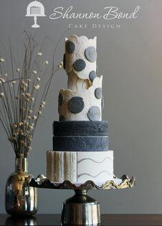Modern Cakes, Unique Cakes, Beautiful Wedding Cakes, Gorgeous Cakes, Cake Decorating Magazine, Satin Ice Fondant, Geometric Cake, American Cake, Wedding Cake Designs
