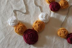 Florida State University Garnet Gold and White by ByMindyMarie, $15.00