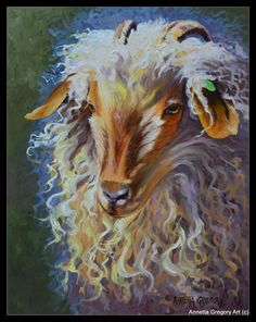 """Curly oil on artists panel 11""""x14"""" for sale by Annetta Gregory Art copyrighted"""