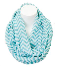 Look what I found on Turquoise & White Chevron Infinity Scarf by Leto Collection Cozy Scarf, Scarf Hat, Turquoise Chevron, Chevron Infinity Scarves, Cents Of Style, Cute Scarfs, Look Cool, Womens Scarves, Passion For Fashion
