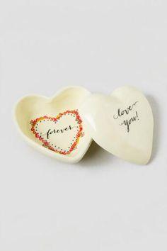 Love You Forever Heart Trinket Box