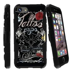 iPhone 7 Holster Case, Apple iPhone 7 Case [Armor Reloaded] Heavy Duty Kickstand Case- Tattoo Expo