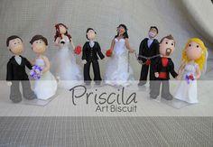 casal de noivinhos de biscuit  - Grooms in cold porcelain