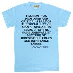 Amazon.com: Coco Chanel Tshirts - Fashion is as - Fashion Tshirts Unisex: Clothing