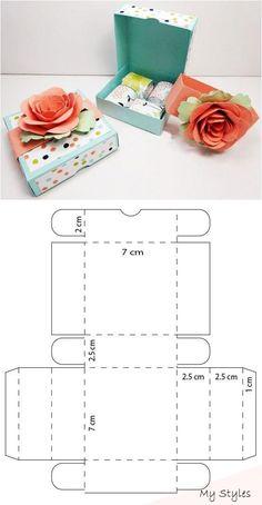 Diy Geschenk Basteln - Mini caja de pizza para chocolates - MY WORLD Diy Gift Box, Diy Box, Diy Gifts, Diy Paper, Paper Crafts, Kraft Paper, Paper Box Template, Box Template Printable, Box Templates