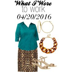 OOTD:  Wednesday, April 20, 2016 by josiegirl77 on Polyvore featuring Lane Bryant, Giambattista Valli, Unlisted by Kenneth Cole, Kenneth Jay Lane and Kim Rogers