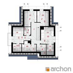 Dom w brunerach Modern House Facades, Modern Bungalow House, Luxury House Plans, Prefab Homes, Facade House, Small House Plans, Detached House, Home Projects, Floor Plans