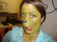 Homemade Grinch Halloween Costume Idea: This Homemade Grinch Halloween Costume Idea was the perfect costume for me! Not only do I love the Grinch Who Stole Christmas, but I love homemade Halloween Grinch Halloween Costume Ideas, Grinch Party Costume, Grinch Costumes, Family Halloween Costumes, Christmas Costumes, Holidays Halloween, Grinch Christmas Party, Grinch Who Stole Christmas, Holiday Fun