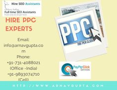 Arnavgupta .com a PPC service provider in India are identified to offer excellent offshore PPC campaigns for internet business. Pay Per Click (PPC) is the effective option to promote sites and get quick web traffic. If you are considering Google Adwords marketing tool with offshore PPC specialists then you are in the right place. @ http://www.arnavgupta.com/offshore-ppc-experts-services.html
