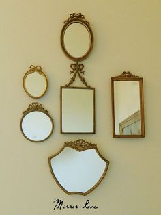 Decorating your walls with vintage mirrors..