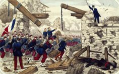 End of the Paris Commune the army entering Paris May 21 1871 France 19th century