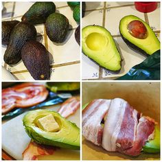 Fit to Blog: Bacon Wrapped, Cheese Stuffed Avocadoes Eat To Live, Bacon Wrapped, Yummy Treats, Avocado, Cheese, Fruit, Health, Blog, Recipes