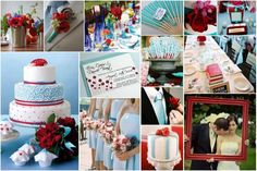 Cherry & Tiffany Blue :  wedding blue bouquet cherry red flowers inspiration red tiffany blue white Colors BlueCherry