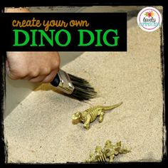 Create your own Dino Dig Site in your Dramatic Play Center for your preschool dinosaur theme!
