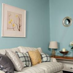 Soft blue grey—cooler than Grey Door. Great with darker, neutral whites and cool golds. Green And Grey, Blue Grey, Gray, Room Colors, Colours, Grey Doors, Beige Bathroom, Living Room Paint, Grey Walls