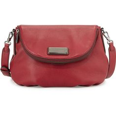 MARC by Marc Jacobs New Q Natasha Crossbody Bag ($368) ❤ liked on Polyvore featuring bags, handbags, shoulder bags, red canyon, leather handbags, crossbody handbags, red shoulder bag, leather crossbody and crossbody purse