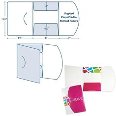 Custom Presentation Folder with Three Panels & Closure Notch to use in your business Custom Presentation Folders, Business Presentation, Identity Branding, Corporate Identity, Visual Identity, Brochure Design Layouts, Folder Design, Booklet Design, Luxury Packaging