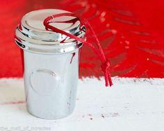 Starbucks Ceramic Silver Ornament 2014 Christmas Edition