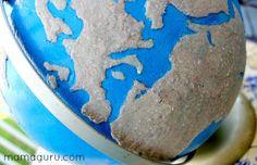 Montessori DIY: Sandpaper Globe