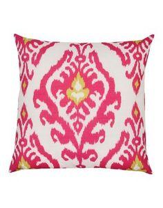 Printed ikat cushion