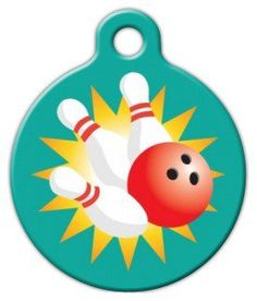 Bowling afficionados rejoyce! We now have a tag design just for you. Score a lucky strike with this fun pet ID tag.Each of our pet ID tags are designed and illustrated by artists from all  over the globe, and printed with affection and care in the mountains of  North Carolina. They are ultra-durable and are guaranteed to always be  legible.