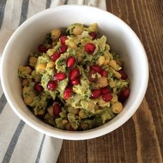 Chickpea Avocado Salad with Pomegranate (vegan, gluten-free, nut-free)