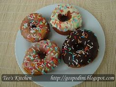 Gogosi (doughnuts) - Retete culinare by Teo's Kitchen Doughnut, Desserts, Food, Tailgate Desserts, Deserts, Essen, Postres, Meals, Dessert