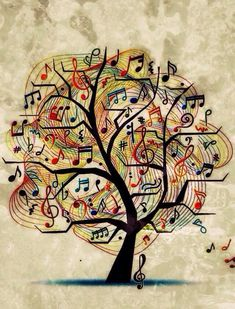 Music tree of life.expressess the pasion for music.sing like nobody watching. Music Is Life, My Music, Jazz Music, Art Of Music, Staff Music, Music Notes Art, Music Sing, Music Tree, Grafik Design