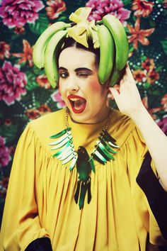 Too cold to wear a bikini but the Parakeet Necklace by Tatty Devine could be just the thing!