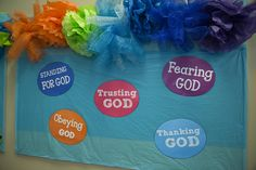 Decorate a hallway with each day's theme at Ocean Commotion VBS
