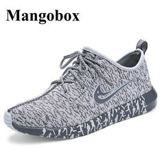 cfe10db2cf7 Cheap Top Quality 2016 Men Running Shoes Knitted Breathable Mesh Outdoor  Sport Student Shoes Sneakers Men shoes Gray Black blue * You can get more  details ...